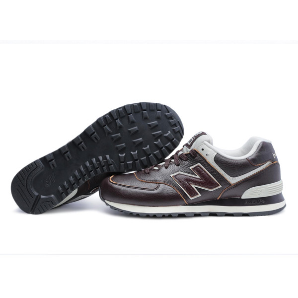 new balance ml574 piel marron